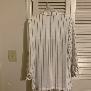 Mossimo Supply Co. Jackets & Coats - White pinstripe blazer